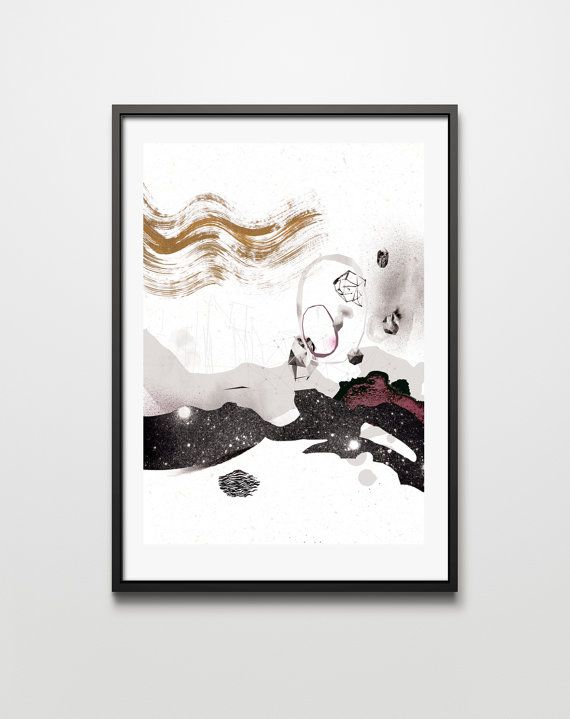 graphic Forms IV. graphic art giclée signed print. by PrintlovePL
