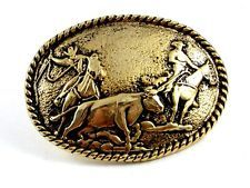 Western Cowboy Bull Roping Rodeo Belt Buckle #102113