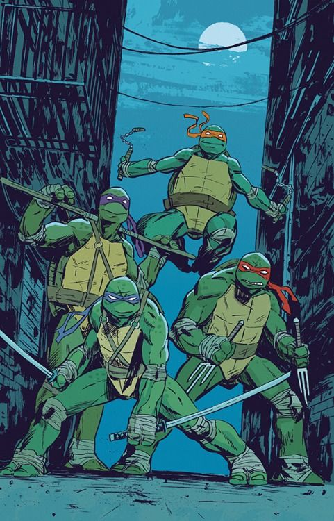 Teenage Mutant Ninja Turtles, Colour Print. MICHAEL WALSH