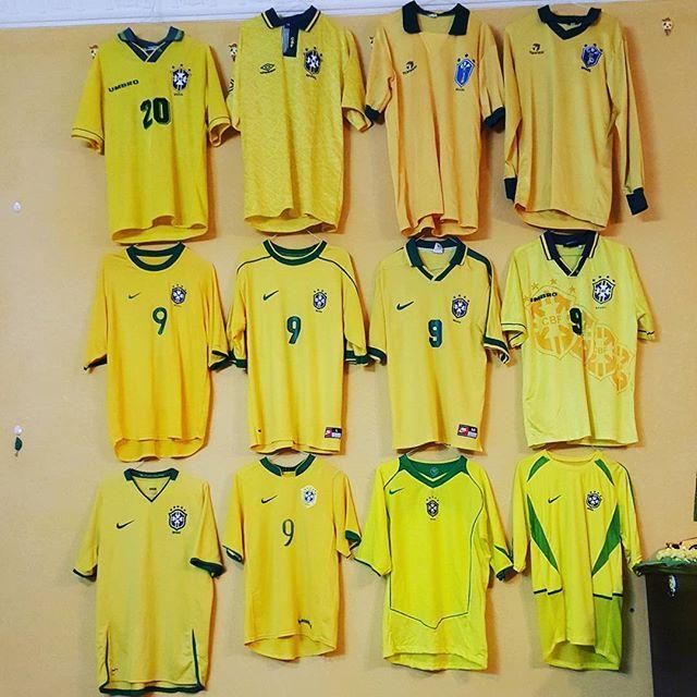 My collection of brasil shirts since (1986-2008) 💛 #brazil #brasil #selecao #seleção #collection #mycollection #football #shirt #shirts #myteam #my_team #nationalteam #البرازيل #السيليساو #ronaldolima #ronaldo9 #elfenomeno #الظاهرة_رونالدو #رونالدو_البرازيلي