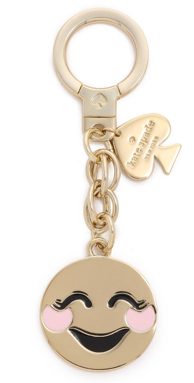 Kate Spade New York Blushing Emoji Keychain | SHOPBOP SAVE 25% Use Code: INTHEFAM