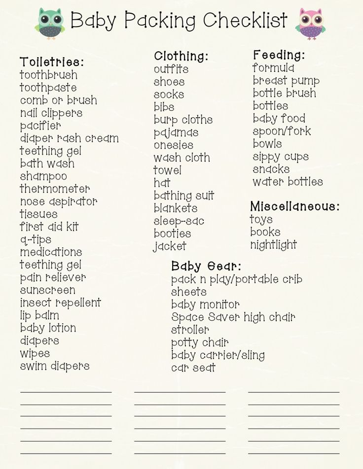 Are you planning a trip with your new baby? Use this free printable Baby Travel Checklist