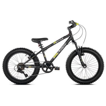 20 inch Boys Genesis Rock Blaster Fat Tire Mountain Bike, Silver