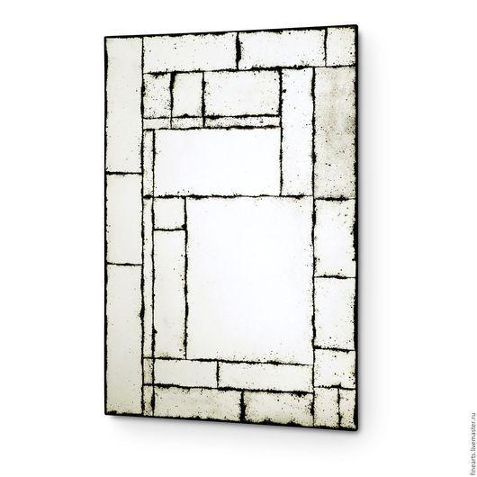 Зеркала ручной работы. Зеркало в стиле loft состаренное зеркало ручной работы. Художественная мастерская FineDeco. Интернет-магазин Ярмарка Мастеров.