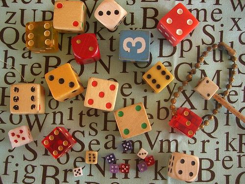 flea Market Find Dice Collection for Assemblage by peregrine blue, via Flickr