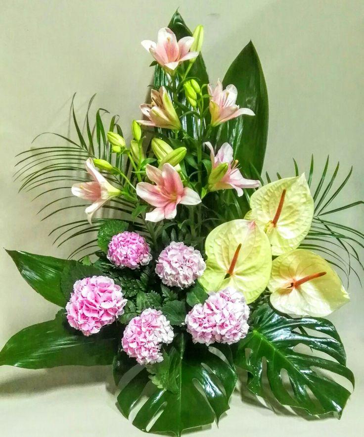 Centros de flores de cementerio