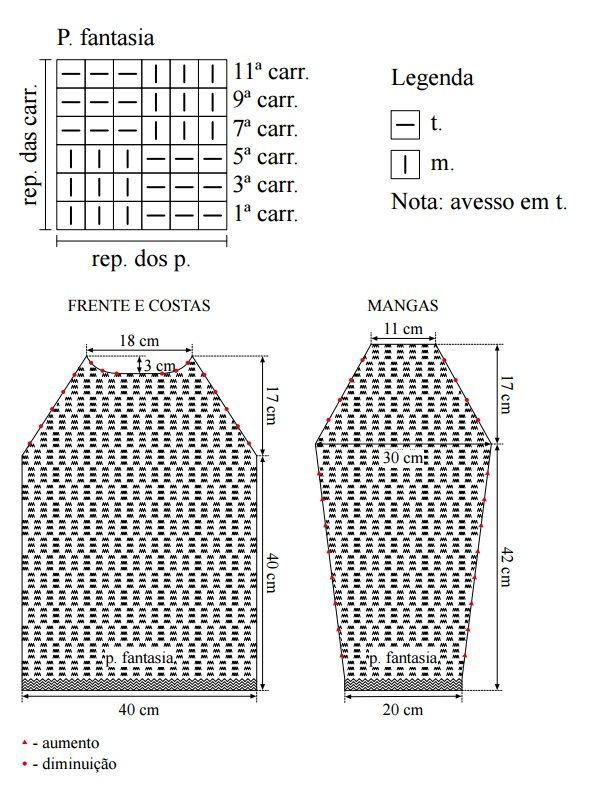 Uauuu... Uma Bela Receita em Tricô Com Decote Canoa, feito com a Linha Camila 1000 Usando 2 Fios e Agulha n°4 de Tricô.   Confira Tudo Aqu...