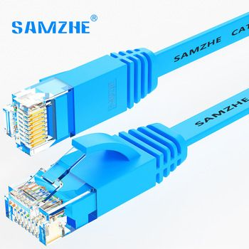 SAMZHE CAT6 Flat Ethernet Cable 250MHz 1000Mbps CAT 6 RJ45 Networking Ethernet Patch Cord LAN Cable for Computer Router Laptop   Price: 4.57 USD