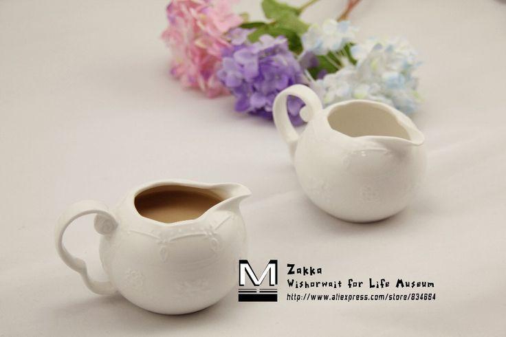 1 Шт. Новый KEYAMA Белое кружево бабочка тиснением кич керамические банки молока кастрюлю Сахар бак Для Хранения Дома чай, кофейные сервизы необходимо купить на AliExpress