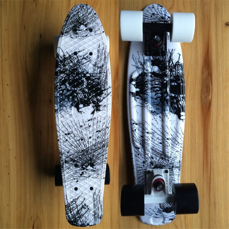 "48.59$  Buy now - http://alirx4.shopchina.info/go.php?t=32438949087 - ""CHI YUAN Chinese Painting Graphic Printed Mini Cruiser Plastic Skateboard 22"""" X 6"""" Retro Longboard Skate Long Board""  #aliexpress"