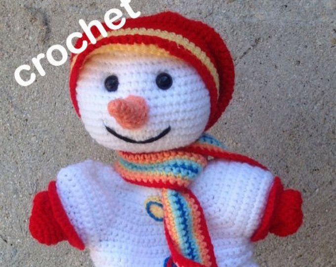 Les 49 meilleures images du tableau poup es doudous - Bonhomme de neige au crochet ...