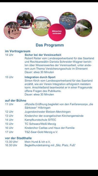 Vereinsmesse in #Merzig ️  Wir #sind dabei besucht Uns an unse... #Event Vereinsmesse in #Merzig 👍❤️  Wir #sind dabei besucht Uns an unserem #Stand vor der Stadthalle  Am 23.10.16 ab 10 Uhr  Das Team von Mein Hund und Ich e.V #Merzig freut sich auf Euch 👍❤️ Es #gibt auch zwei Vorfuehrrungen 👍🐾🐾🐾🐾🐾🐾🐾🐾🐾🐾🐾🐾Vereinsmesse in #Merzig 👍❤️  Wir #sind dabei besucht Uns an unserem #Stand vor der http://saar.city/?p=32862