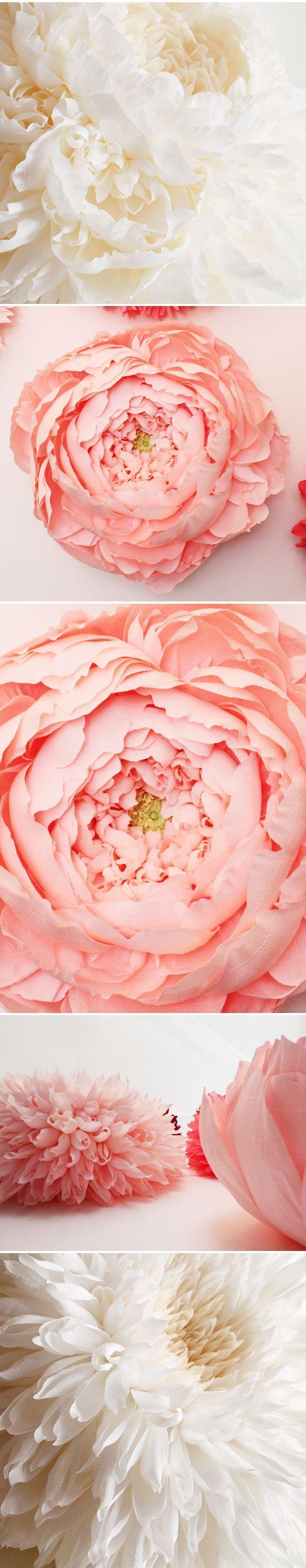 Handmade paper flowers #kissesandcake #weddingstyling #florals  http://www.kissesandcake.com.au/blog-diy/2014/11/19/handmade-paper-flowers