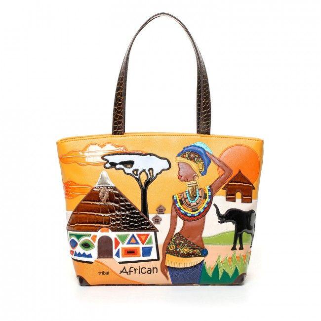 Borsa Braccialini Cartoline Tribal African #braccialini #bags #borse #cartoline