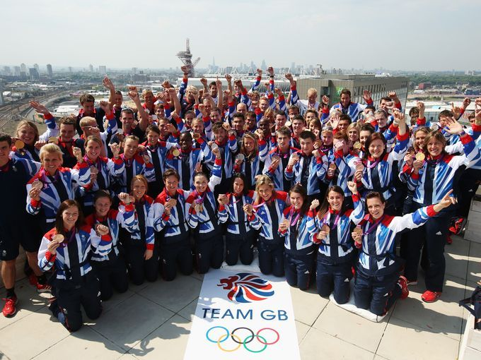 Team Great Britain. Pictured here in 2012, the Olympic team is made up of athletes from Scotland, Wales, Northern Ireland and England.  WIDE ANGLE