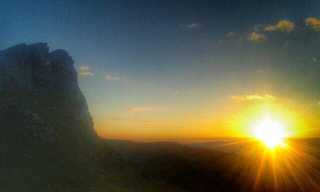 Sunset at Saua Strunga, Bucegi mountains, Romania. Best sunset ever.