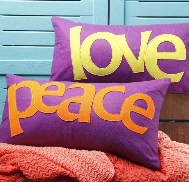 Harvey Norman - Boho Peace and Love Long Cushion by Ultima