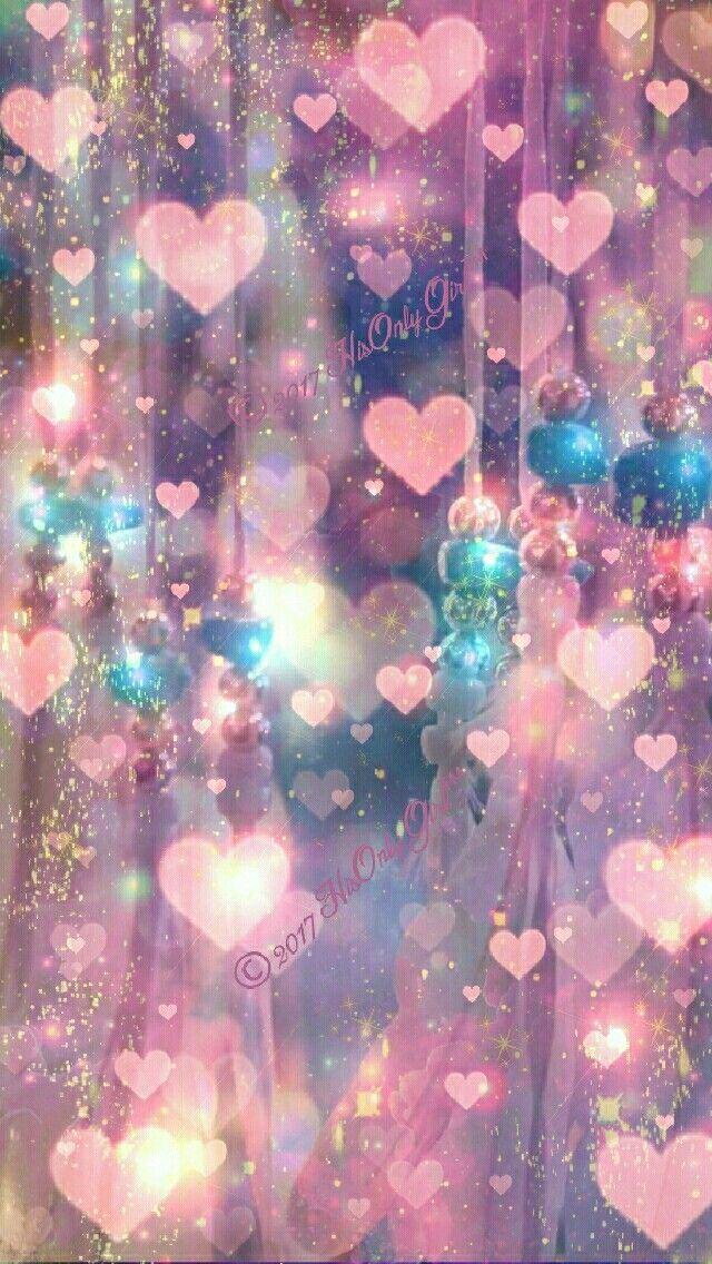 人気46位 ピンクのハートのキラキラiphone壁紙 スマホ壁紙 Iphone待受画像ギャラリー 宇宙 壁紙 愛の壁紙 ハートの壁紙