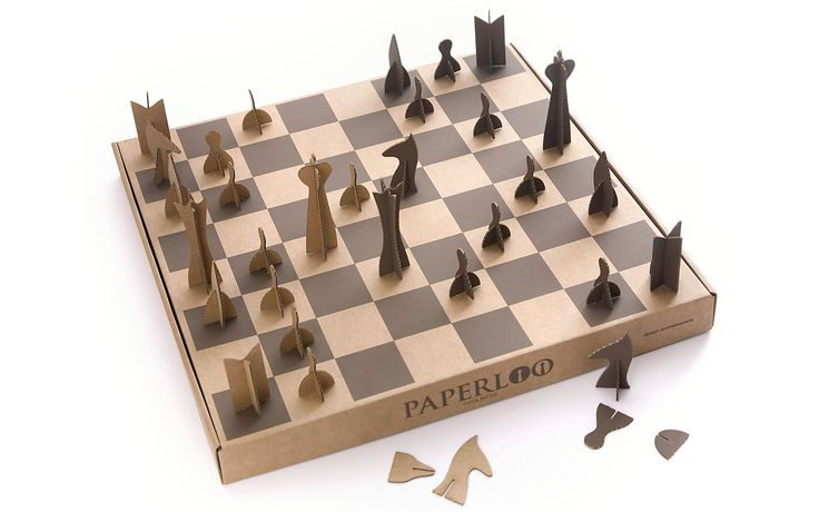 PAPERLOO | paper chessboard by andrea vecera - photo © ornella orlandini
