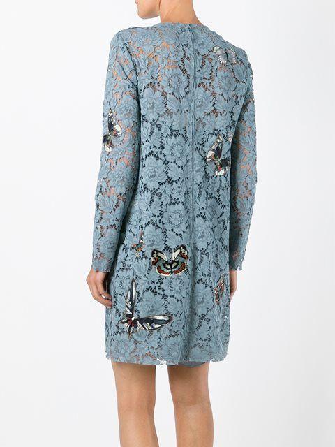 Valentino кружевное платье 'Japanese Butterfly'