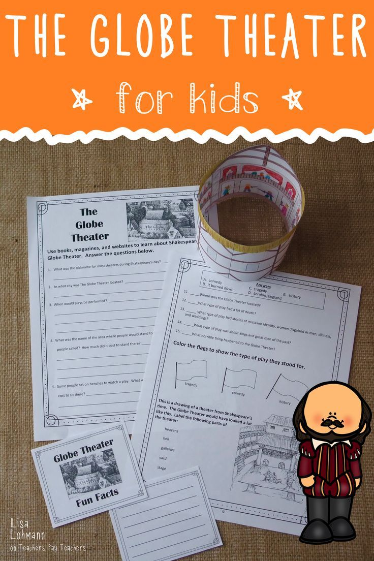 Introduce Students To Shakespeare S Globe Theater Then Have Them Complete A Worksheet Write Fun Facts C Globe Theater Novel Study Activities Bible Activities [ 1104 x 736 Pixel ]