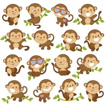 Desenhos animados engraçados do macaco
