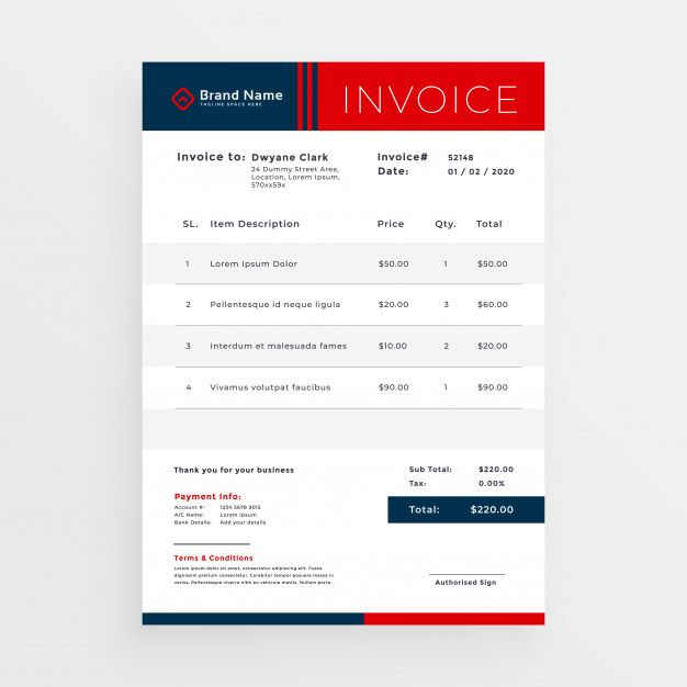 Professional Red Invoice Template Design Free Vector Free Vector Freepik Vector Freebusiness Fre In 2020 Invoice Design Template Invoice Template Template Design