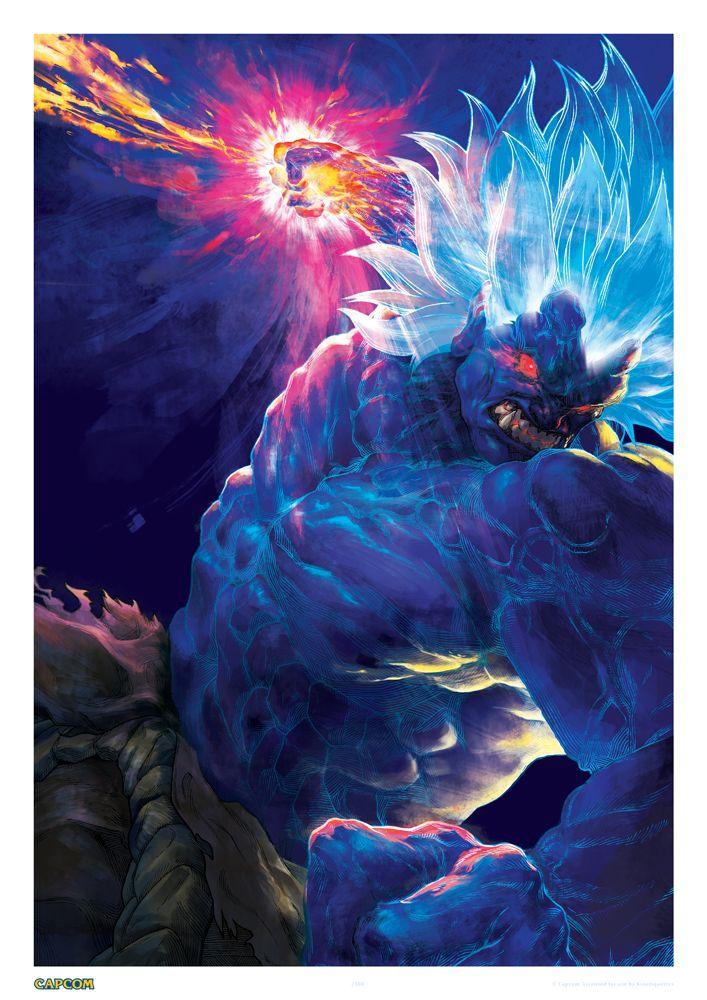 All Capcom — xombiedirge: Oni Akuma & Blanka by Calvin Chua