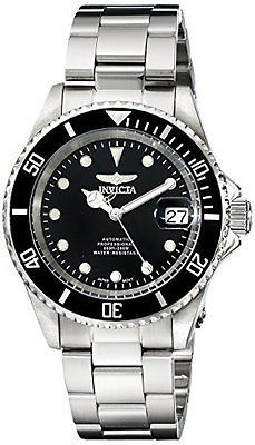 17 best ideas about invicta watches for black wristwatches 31387 invicta pro diver automatic black dial stainless steel mens watch 17044 >
