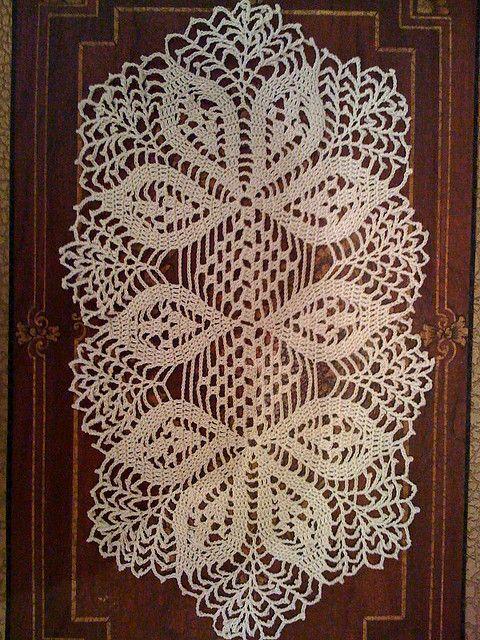 Handmade Crochet Doily Oval Crochet Crochet Doilies