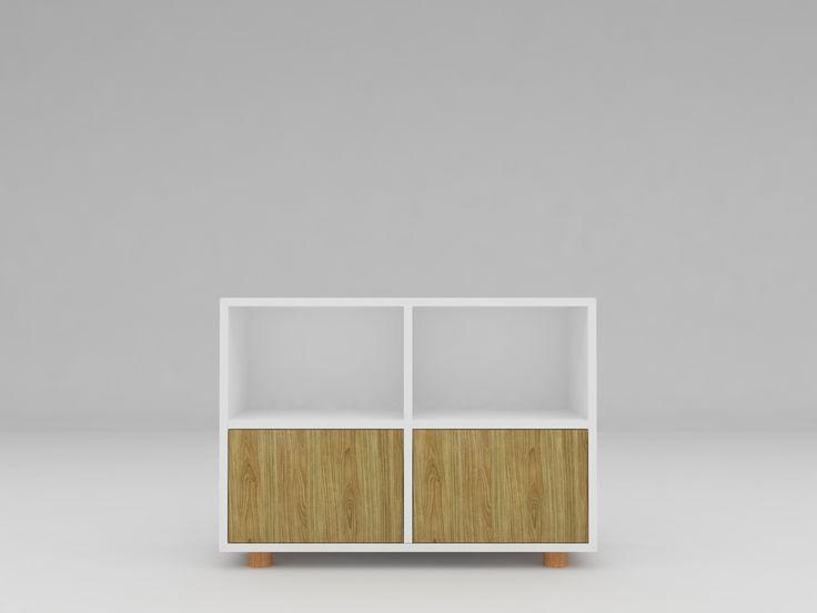 Minimalist modern furniture - Lemari Buku Minimalis - White Elegant Teak