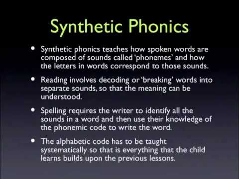 Reading Lessons using Synthetic Phonics to teach reading