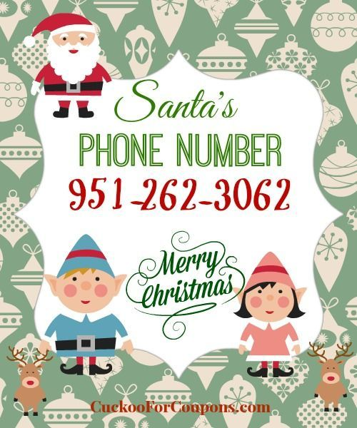 FREE number to call Santa!  The kids will flip!