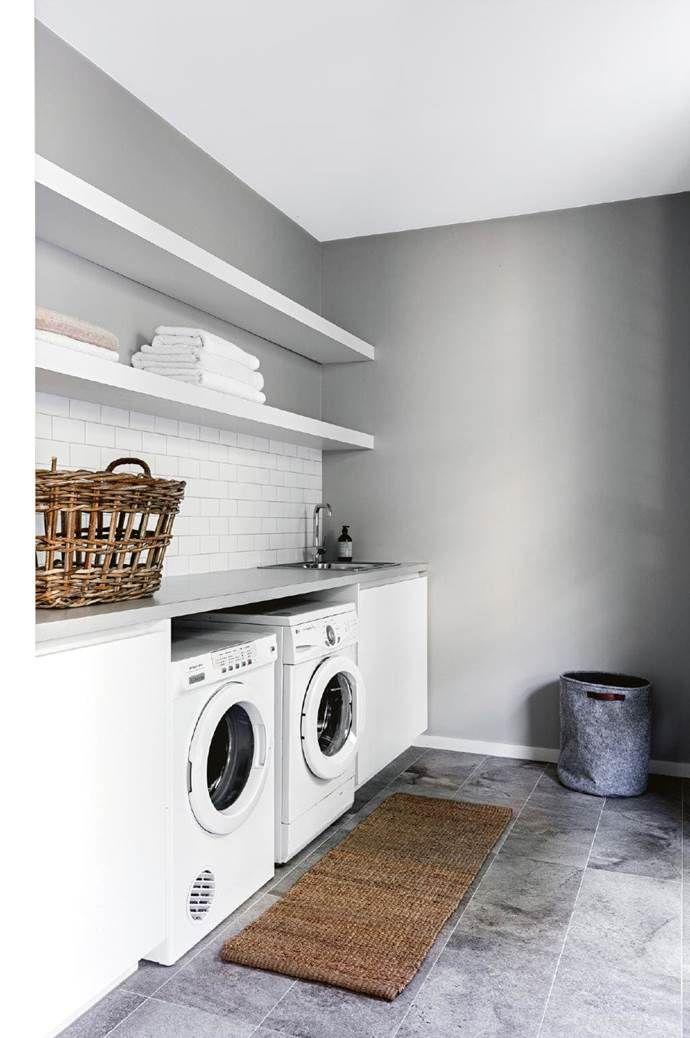 A Modular Prefab Home With Sophisticated Beach Style Modular Homes Prefab Homes Laundry Design