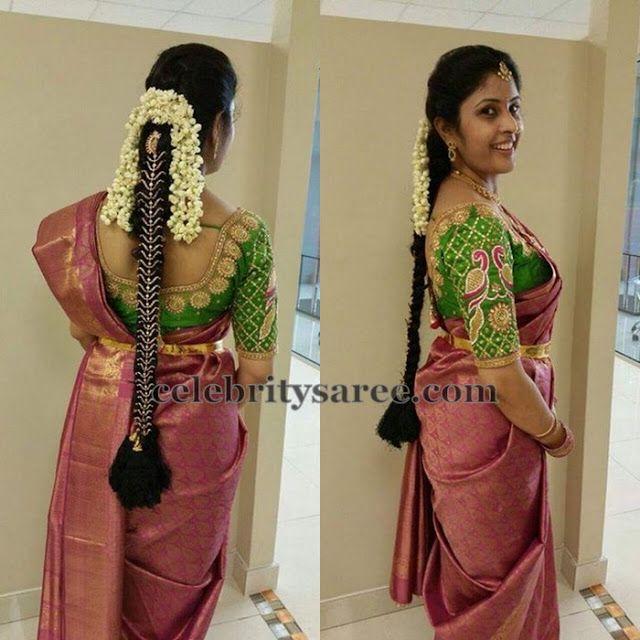 Elbow Length Peacock Blouse | Saree Blouse Patterns
