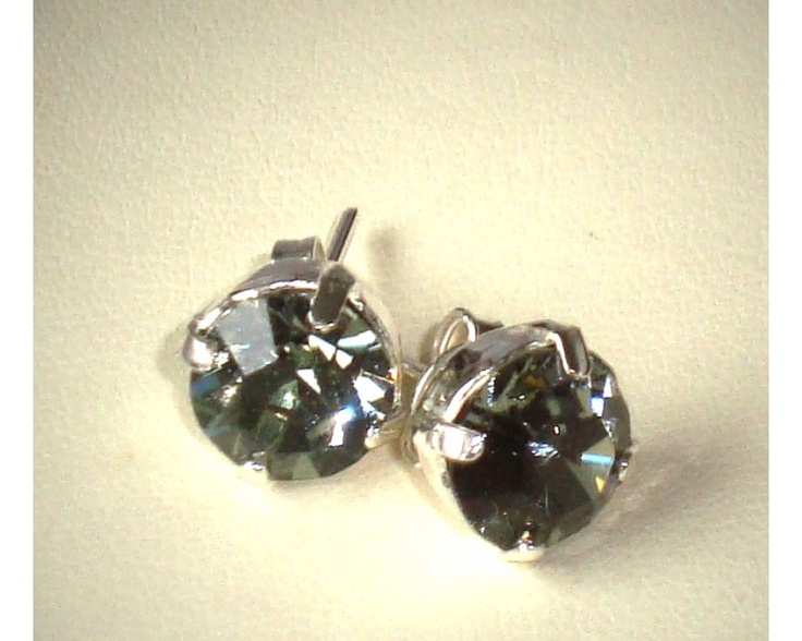Silver Night Stud earrings www.taralenasjewels.com $25.00