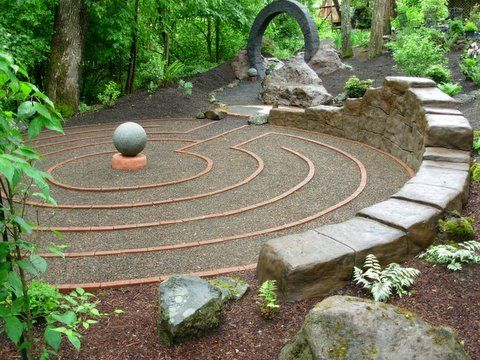 Labyrinth Designs Garden spiral path in the backyardwith gravel instead of grass There Is Something Very Elegant And Special About This Design For A Labyrinth Perhaps The Modern Minimalist Feel On An Ancient Idea Is Compelling
