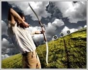This is Olympic style Archery! For #stag do idea in Nottingham or Birmingham