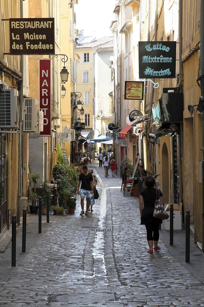 Walking Street in Aix en Provence, France