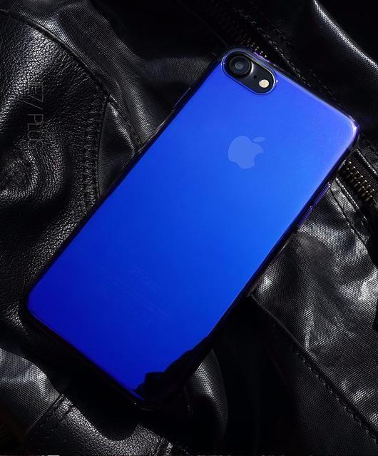 Blue iPhone 7/7 Plus Transparent Premium Case