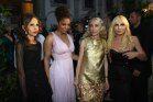 Allegra Versace, Janet Jackson, Franca Sozzani and Donatella Versace attend L'Uomo Vogue's 40th anniversary party at the Palazzo Litta in Milan.