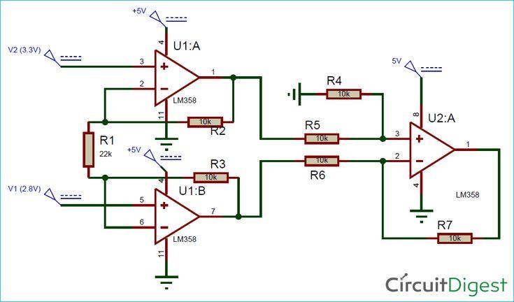 Circuit Diagram for Instrumentation Amplifier Circuit ...