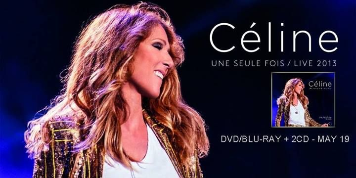 Celine Dion will released a new DVD/Blu-Ray on May 19, 2014. It contains the full show for her Une Seule Fois Concert and 2 Bonus CD which contains selected tracks from her concert in Antwerp and Bercy.