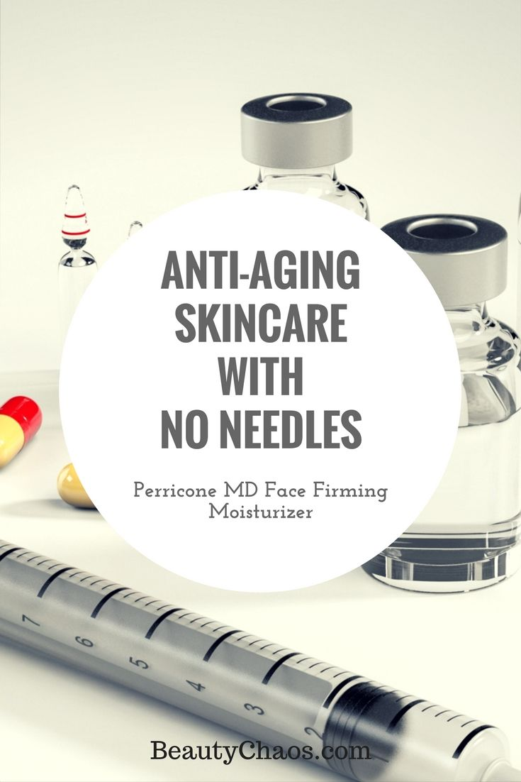 Anti-Aging Skincare with No Needles | Perricone MD Face Firming Moisturizer | BeautyChaos.com #skincare #antiaging #firming