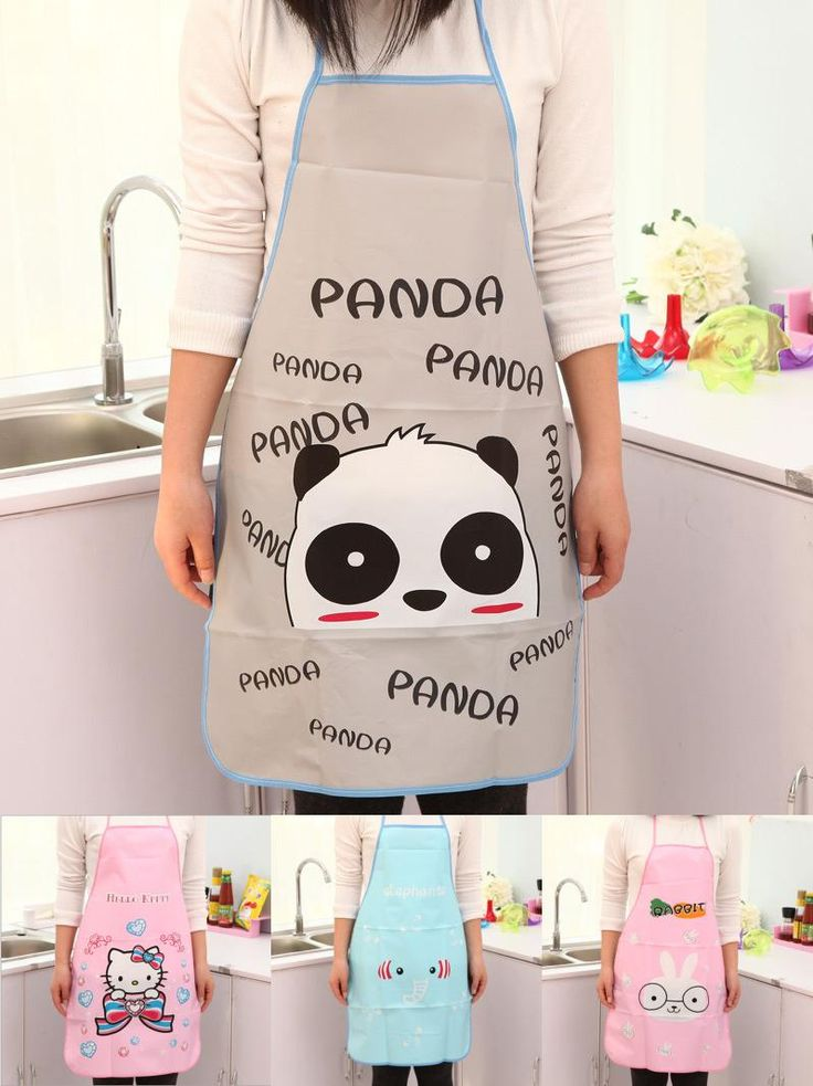 [Visit to Buy] 1pc Cartoon PVC Aprons Waterproof Aprons Kitchen Aprons For Woman #Advertisement
