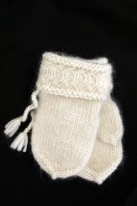 White lovikka mittens from Lovikka, Sweden.