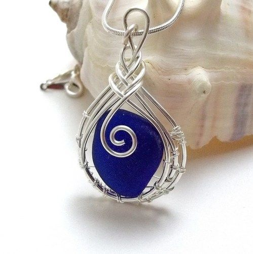 78 Best Sea Glass Images On Pinterest Jewelery Pendants And Wire