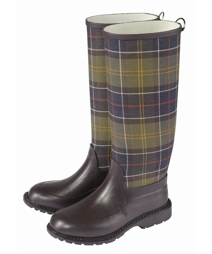 Tartan Trend - WOMEN'S BARBOUR TOWN & COUNTRY TARTAN WELLINGTONS, £99.95, http://www.outdoorandcountry.co.uk/