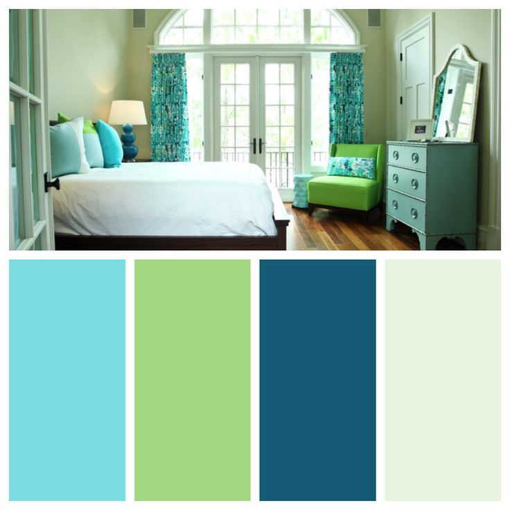 Master Bedroom Blue And Green Color Palette Color
