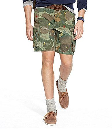 $98, Olive Camouflage Shorts: Polo Ralph Lauren Relaxed Fit Embroidered Camouflage Shorts. Sold by Dillard's. Click for more info: https://lookastic.com/men/shop_items/206084/redirect